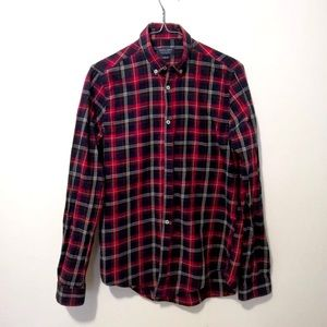Zara Plaid (Navy, Red and White) Flannel Shirt